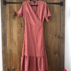 New Look maxi wrap dress